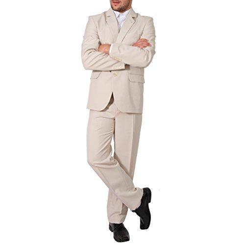 Regular Herren Anzug 3Teiler Sakko Hose Weste Büro Business Hochzeit H10