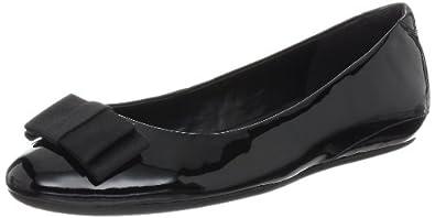 ECCO Women's Owando Bow Flat,Black Patent,41 EU/10-10.5 M US