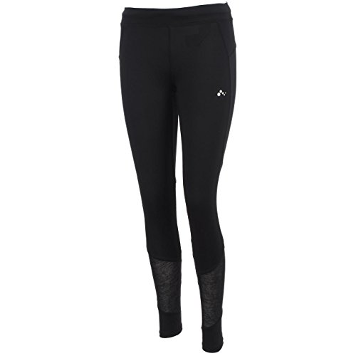 Only Play - Julie Black lungo Tight L - Collant Multisport, Grigio antracite scuro, S