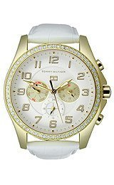 Tommy Hilfiger Classic Multifunction Leather - White Women's watch #1781280