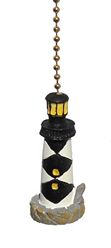 Cape Lookout LIGHTHOUSE nautical CEILING FAN PULL chain (Lighthouse Fan Pulls compare prices)