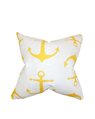 The Pillow Collection 18 Tug Pillow, Yellow