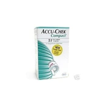 Accu-Chek Compact Test Strips - (3 drums of 17) Accu-Chek Test Strips are for use with the Accu-Chek Compact and Accu-Check Compact Plus Blood Glucose Meters only. The Accu-Chek Compact Test Strips are for testing glucose in whole blood without handl...