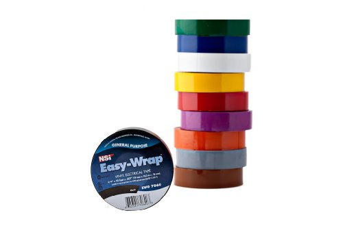 NSi EWG Easy-Wrap General Purpose Electrical Tape, -7 to 80 Degree C, 60' Length x 3/4