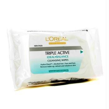 L'Oréal Paris Tripla Attiva Fresh Salviette Struccanti Pelli Normali o Miste