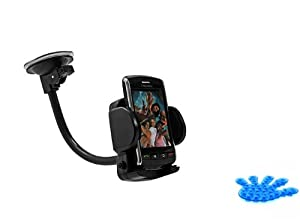 Samsung Galaxy S3 S III Compatible Universal Rotating Car Mount Auto Windshield Holder Dock Window Suction Cradle Stand (Comes with Suction Phone Holder)