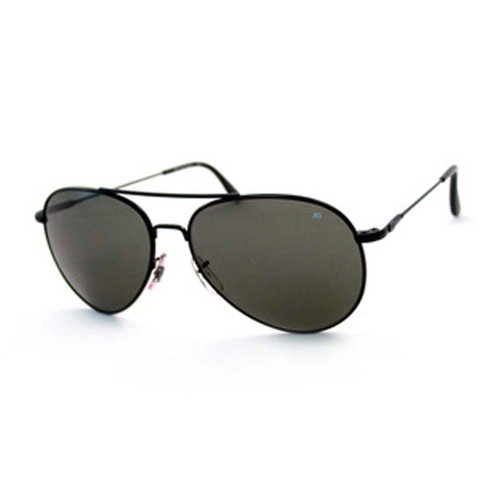 AO General Sunglasses, Black, Gray Glass Lens, Wire Spatula, 52mm 30580