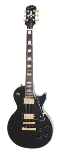 Epiphone Les Paul CUSTOM PRO Electric Guitar with Coil Tapping, Ebony (Gibson Guitar Custom compare prices)