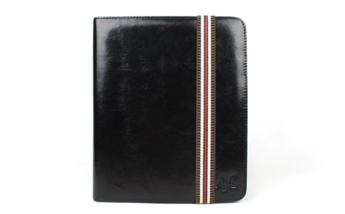 AYL (TM) 360 Degrees Rotating 9-in-1 Stand Case with 100% Genuine Leather for Apple Ipad 2nd Generation Tablet