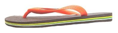 Size 10 Havaianas Men's H Brasil Logo Synthetic Flip Flops