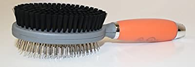 [SPECIAL OFFER TODAY] Best Pin & Bristle Brush on Amazon for Dogs & Cats by GoPets | 2-Sided Professional Grooming Comb for Short Medium Long Hair | Clean Pets w/ Shedding & Dirt | Lifetime Guarantee