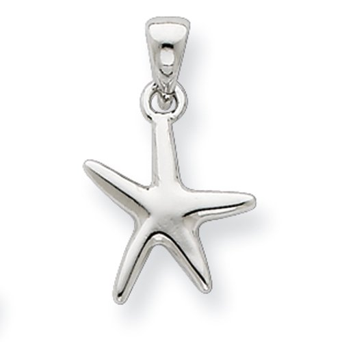 Sterling Silver Polished Starfish Charm