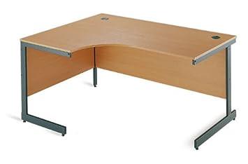 Maestro Cantilever Left Hand Ergonomic Desk - 1778mm - Beech (ME18L)