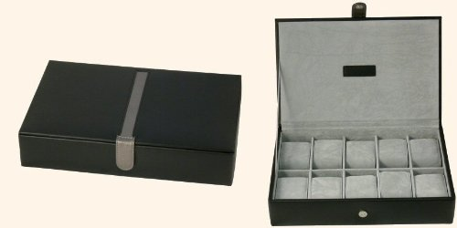 mele-black-10-watch-display-box-case-new-bonded-leather