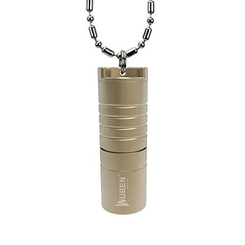 WUBEN 世界で最小型USB懐中ライト 航空機グレードのアルミ合金製 高輝度LED(CREE XP-G2) 防水 耐震(電池含まず)ゴールド G342