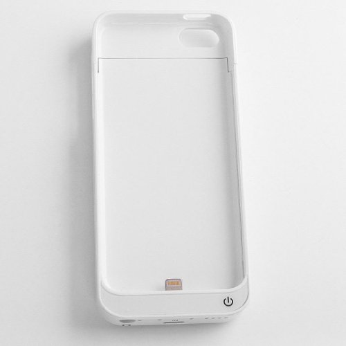 Stylish Large Capacity 2200mah White Mobile Power Bank for iPhone 5C iPhone 5S iPhone 5 by TB1 Products ®