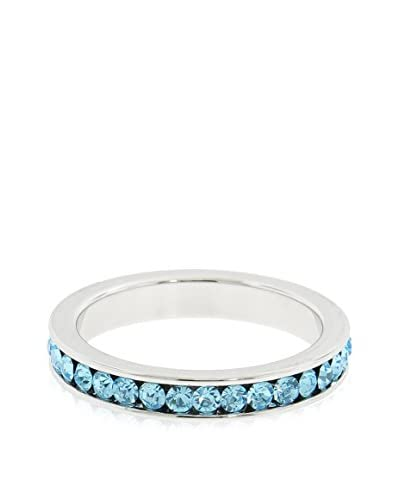 Bronzo Lusso Eternity Band with Swarovski Crystal Elements, Light Blue/Silver As You See