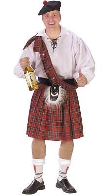 Big Shot Scot Men's Costume Adult Halloween Outfit