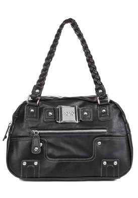 Masterpiece Black Faux Leather Shoulder Bag: Black Shoulder Bag