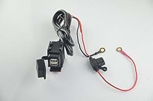 Eathtek New 2 USB Motorcycle Mobile Waterproof Splashproof Power Supply Port Socket Charger