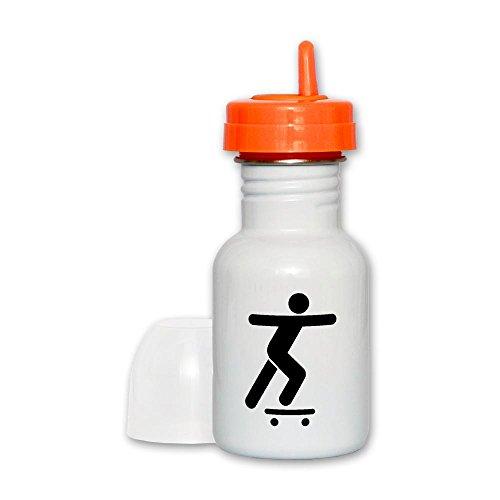 Sippy Cup Orange Lid Skateboard Skater Traffic Symbol
