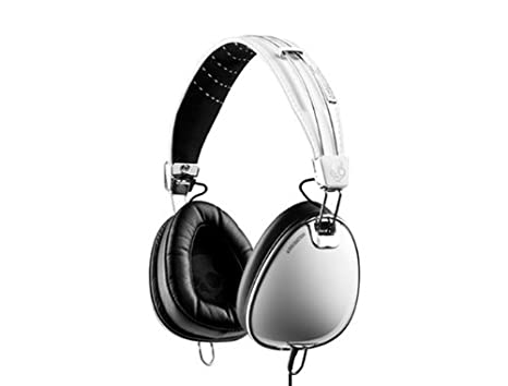 Skullcandy S6AVDM-072 Headset Aviator Closed / Micro for iPhone / iPod / iPad 1.3 m Cable Plug type: 3.5 mm White