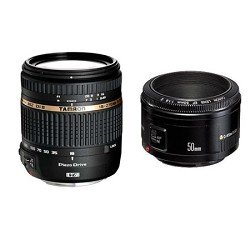 Tamron Macro Zoom Lens with Built in Motor for DSLR Cameras w/ Canon EF 50mm f/1.8 II Camera Lens