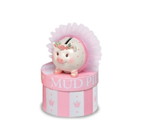 Mud Pie Baby Tiny Dancer Ballerina Piggy Bank, Mini