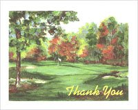 Kristin Elliott Note Cards - Thank You Golf