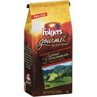 Folgers, Gourmet Ground Coffee, Lively Columbian, 12oz Bag (Pack of 6)