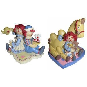 Raggedy Ann and Andy Figurine Set - Tea Time