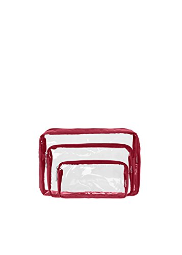 baggallini-clear-cosmetic-trio-bags-apple-one-size
