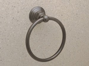 "Rohl Rot4 Country Bath 6"" Towel Ring, Old Iron front-278098"