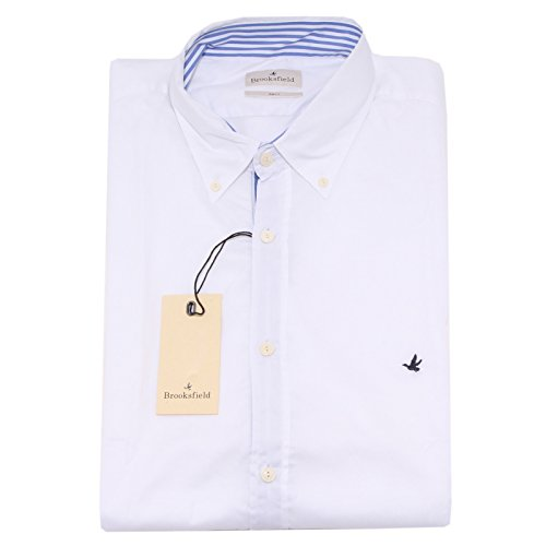 8394P camicia manica lunga bianca BROOKSFIELD uomo shirt men [43]