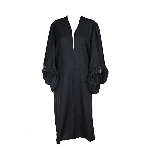GradPlaza Adult Barrister Gown Black (Judge Robe Adult Costume)