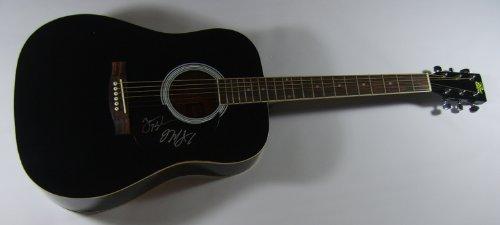 Jack Black Kyle Gass Tenacious D Rize of The Fenix Signed Autographed Full Size Black Acoustic Guitar Loa