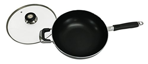 Wee's Beyond 6246-30 Non-Stick Handled Wok, 6.5 quart, Black