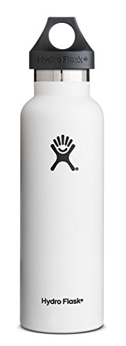 Hydro Flask Insulated Stainless Steel Standard Mouth Drinking Bottle (21-Ounce, Artic White)
