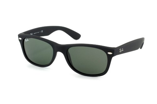 New Ray Ban Sunglass 2132 622 52-18 Black Rubber w/green