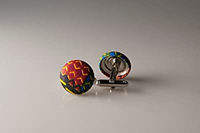 Cufflinks, Fabric button cufflinks, wedding cufflinks, groom cufflinks, African fabric cufflinks, Ankara cufflinks, Kente cuff links, Kente fabric cufflinks