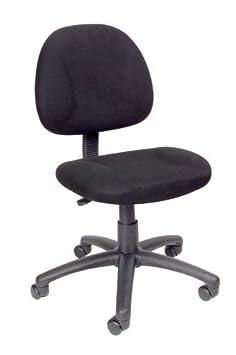 Tela de tapicería de Nicer Deluxe postura tarea silla negro ordenador silla de escritorio silla de oficina sin brazos