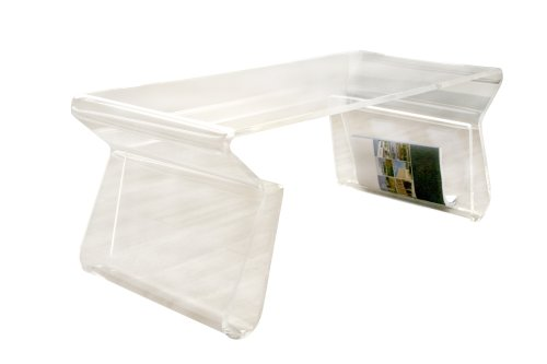 Baxton Studio Chiara Acrylic Coffee Table, Clear