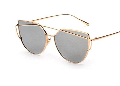 U.S. CROWN Women Cat-Eye Mirror Sunglasses with case -Sunglasses women men