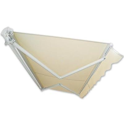Gelenkarm-Markise 3,5 x 2,5 m beige Sonnenschutz