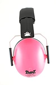 Baby Banz earBanZ Kids Hearing Protection, Pink, 2 -12+ YEARS