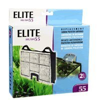 Elite Carbon Cartridge for Hush 55-Power Aquarium Filter, 2-Pack