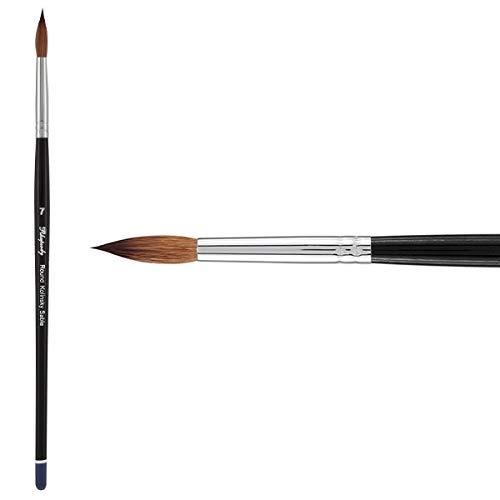 Creative Mark Rhapsody Kolinsky Sable Artist Watercolor Paint Brush - for Professional Watercolorists, Gouaches, Inks, Fluid Medias - [Round 7] (Color: Kolinsky Sable Round # 7, Tamaño: Size 14)