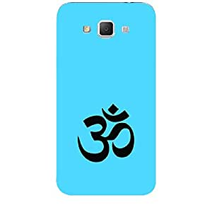 "Skin4gadgets Hinduism Symbol ""OM"" on English Pastel Color-Ocean Blue Phone Skin for SAMSUNG GALAXY GRAND MAX (G720)"