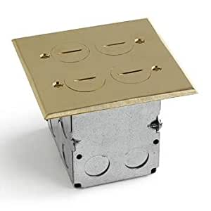 Lew Electric Swb-4-2p Floor Box & Brass Cover 2 Gang