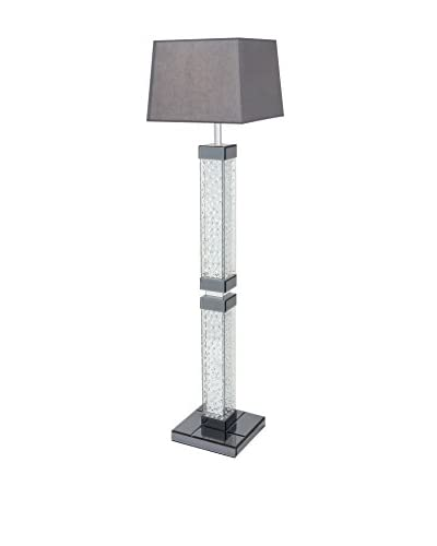 Mirror Crystal Floor Lamp, Grey